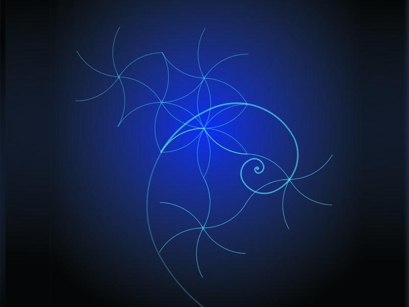 Spiral patterns wallpaper