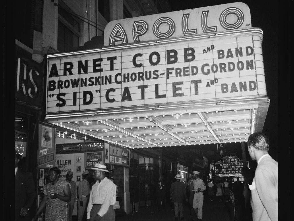 Apollo Theatre marquee, New York, N.Y., between 1946 and 1948 wallpaper