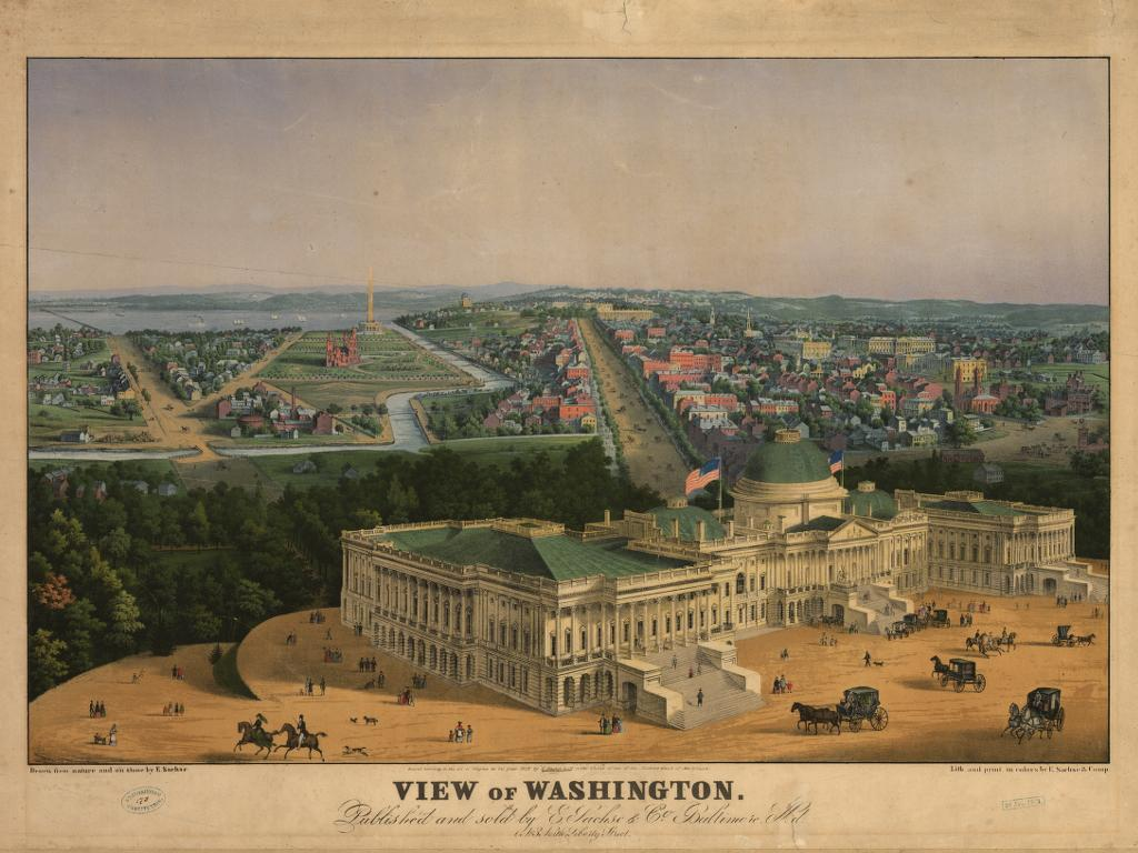 Washington DC 1855 wallpaper