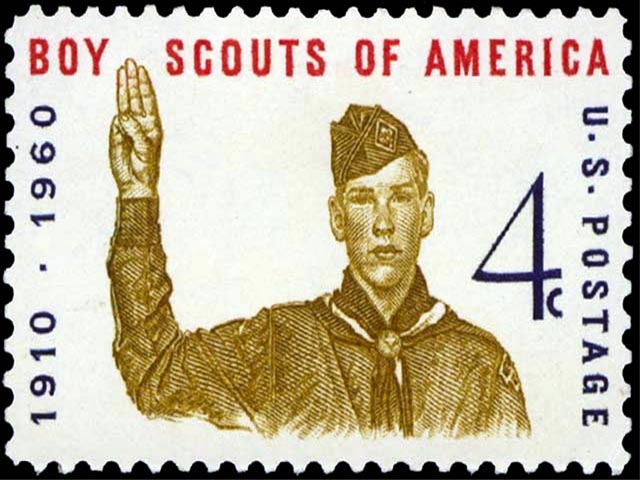 Boy Scouts Jubilee Stamp wallpaper