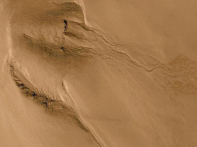 Possible water gully on Mars wallpaper
