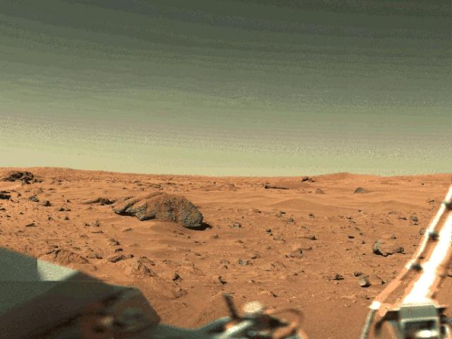 The surface of Mars from the Viking Lander wallpaper