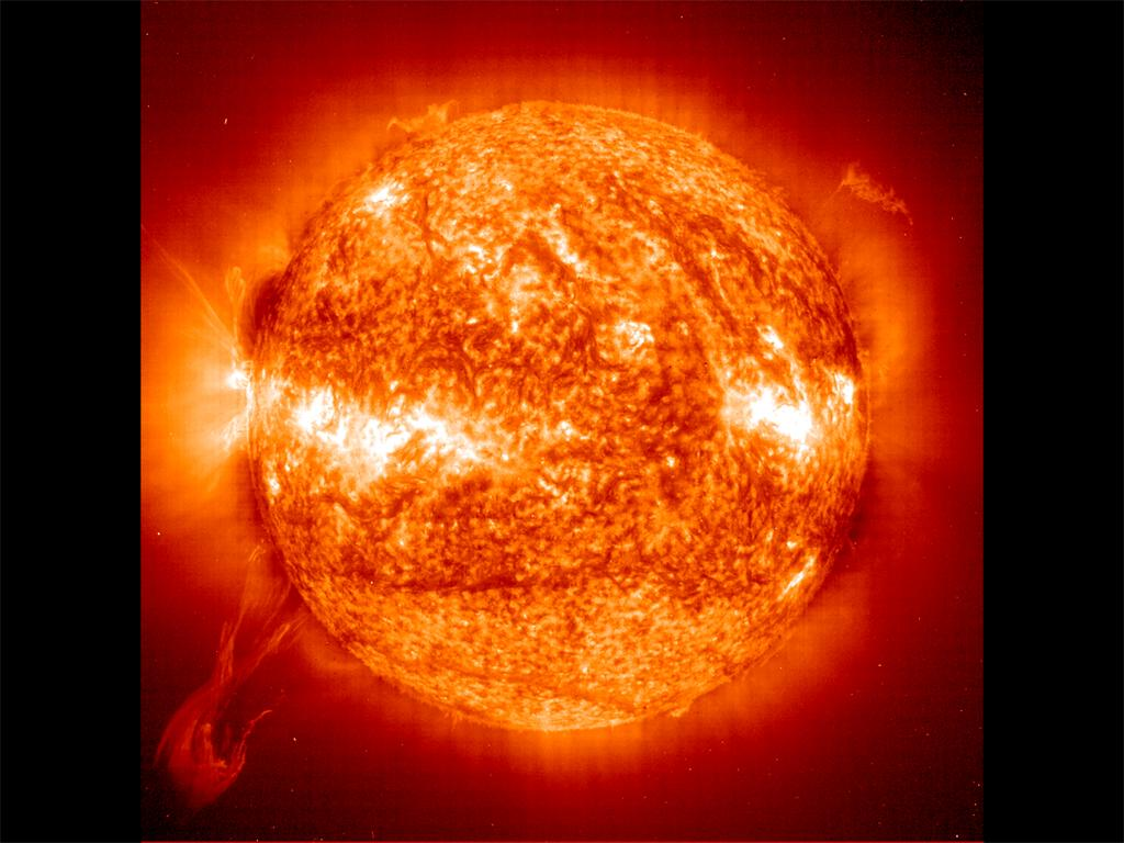 Twisted Solar Eruptive Prominence wallpaper