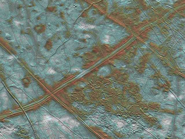 Europa's Cracked Surface Detail wallpaper