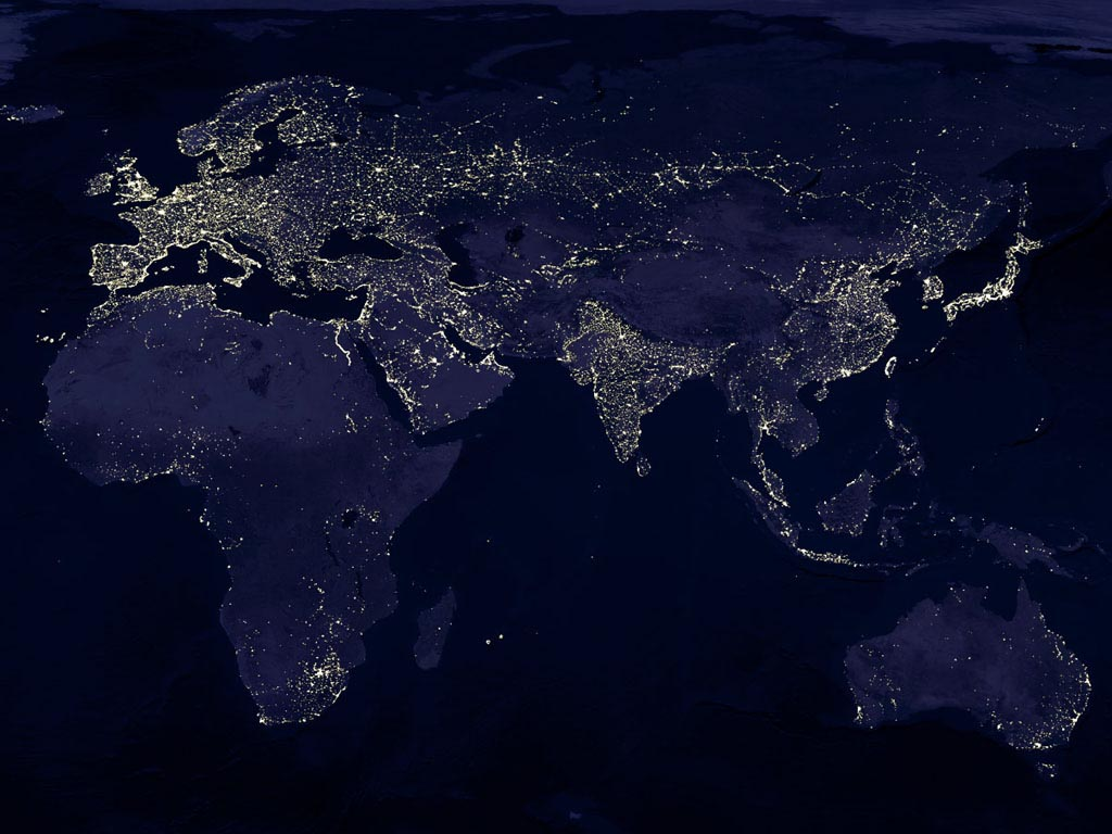 Earth At Night From Space Hd (page 3) - Pics about space