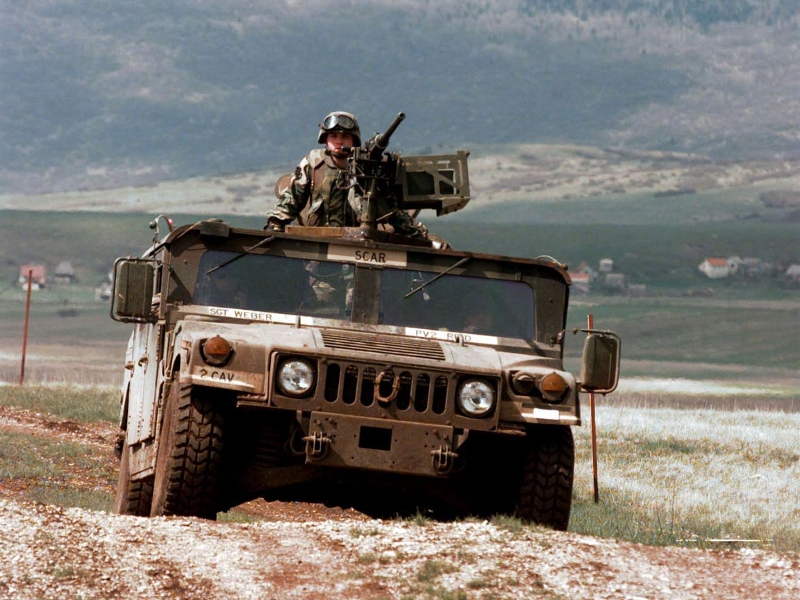 Humvee on Patrol wallpaper