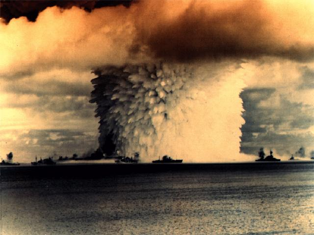 Atomic Bomb Test Over Water wallpaper