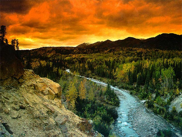 Denali Park Sunset wallpaper