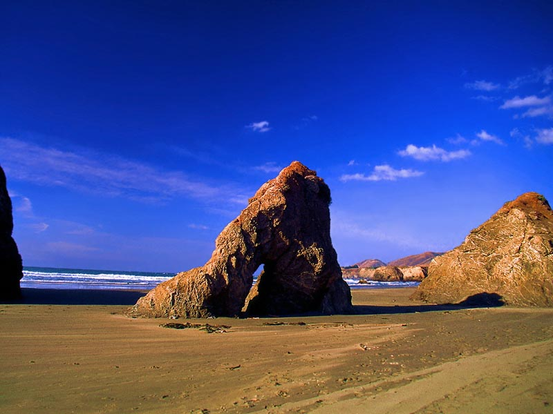 Beach at Bodega Bay California wallpaper