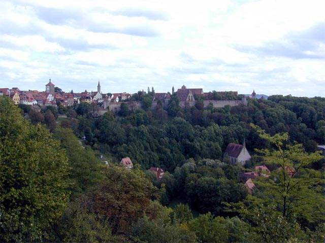 Long View of Rothenburg wallpaper