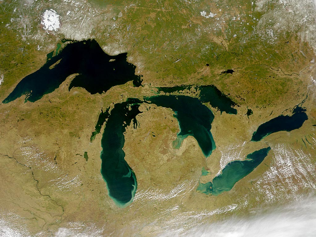 The Great Lakes from Space wallpaper