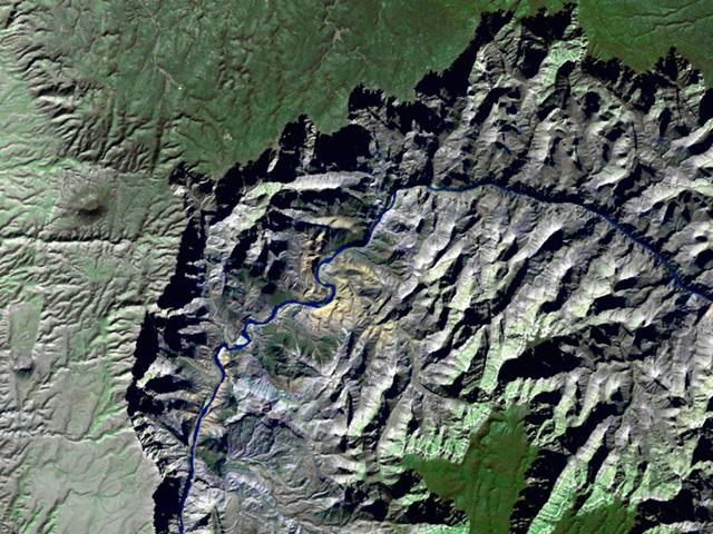 Grand Canyon<br />25m resolution Landsat 5 wallpaper
