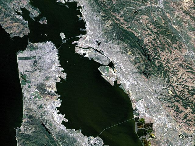 San Francisco Bay<br />25m resolution Landsat 5 wallpaper