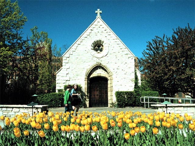 Spring at St. Joan of Arc Chapel wallpaper
