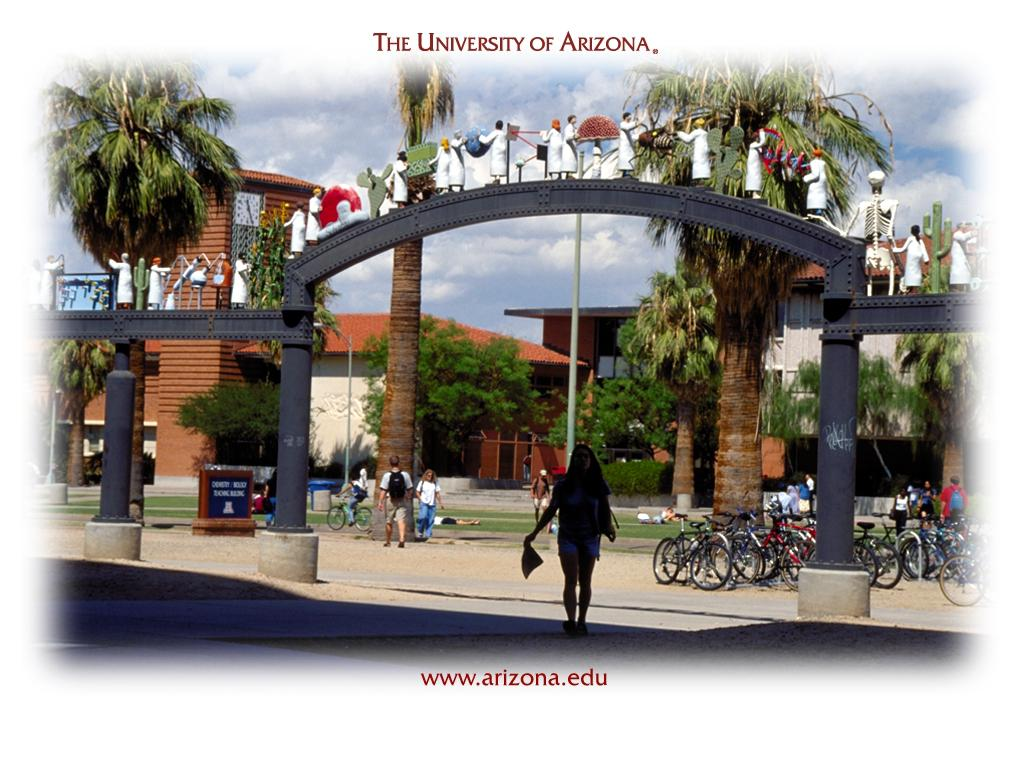 University of Arizona<br />Twenty Five Scientists Gateway wallpaper