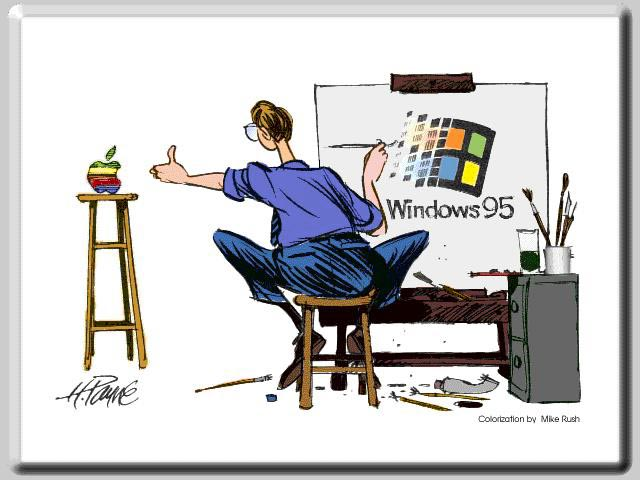 Humorous View of Windows 95 wallpaper