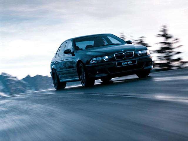 BMW M5 on the Road wallpaper