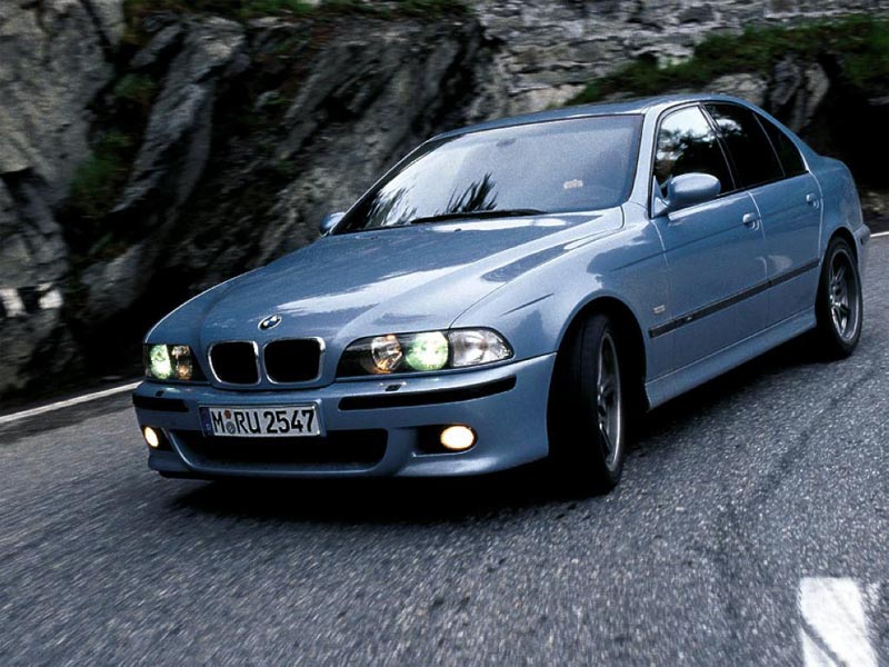 BMW M5 on Mountain Road wallpaper