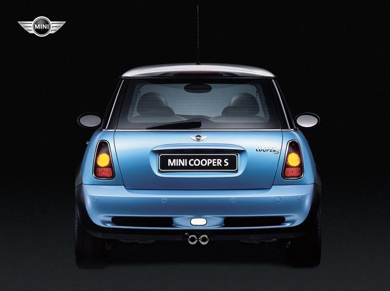Mini Cooper Back View wallpaper