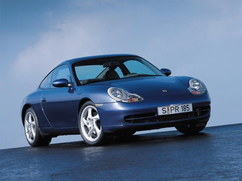Blue Porche 911 wallpaper