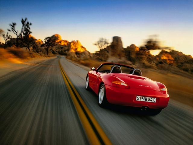 Red Boxster wallpaper