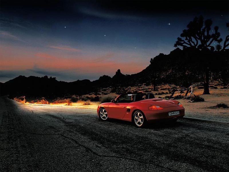 Boxster at Night wallpaper