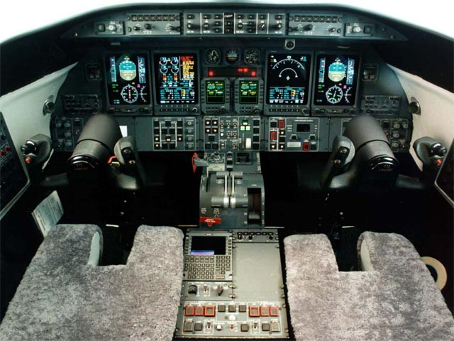 Learjet 45 Cockpit wallpaper